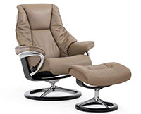 Stressless Live Signature Steel and Wood Base