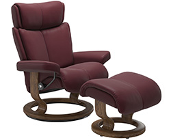 Stressless Magic Classic Recliner Chair and Ottoman