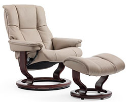 Stressless Mayfair Classic Recliner Chair and Ottoman