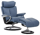Stressless Signature Base Recliner Chair and Ottoman