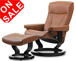 Stressless President Classic Recliner Chair and Ottoman