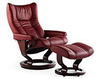 Stressless Wing Classic Hourglass Wood Base