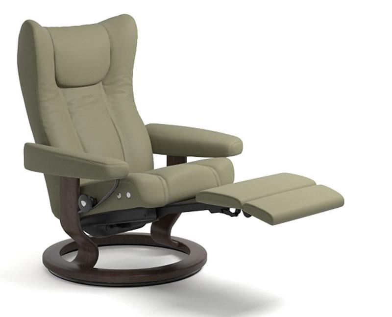 Stressless Wing Power Legcomfort Footrest Recliner Chair