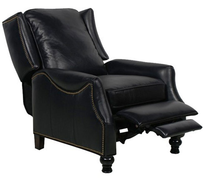 Barcalounger Ashton II Recliner Chair Pearlized Black Leather
