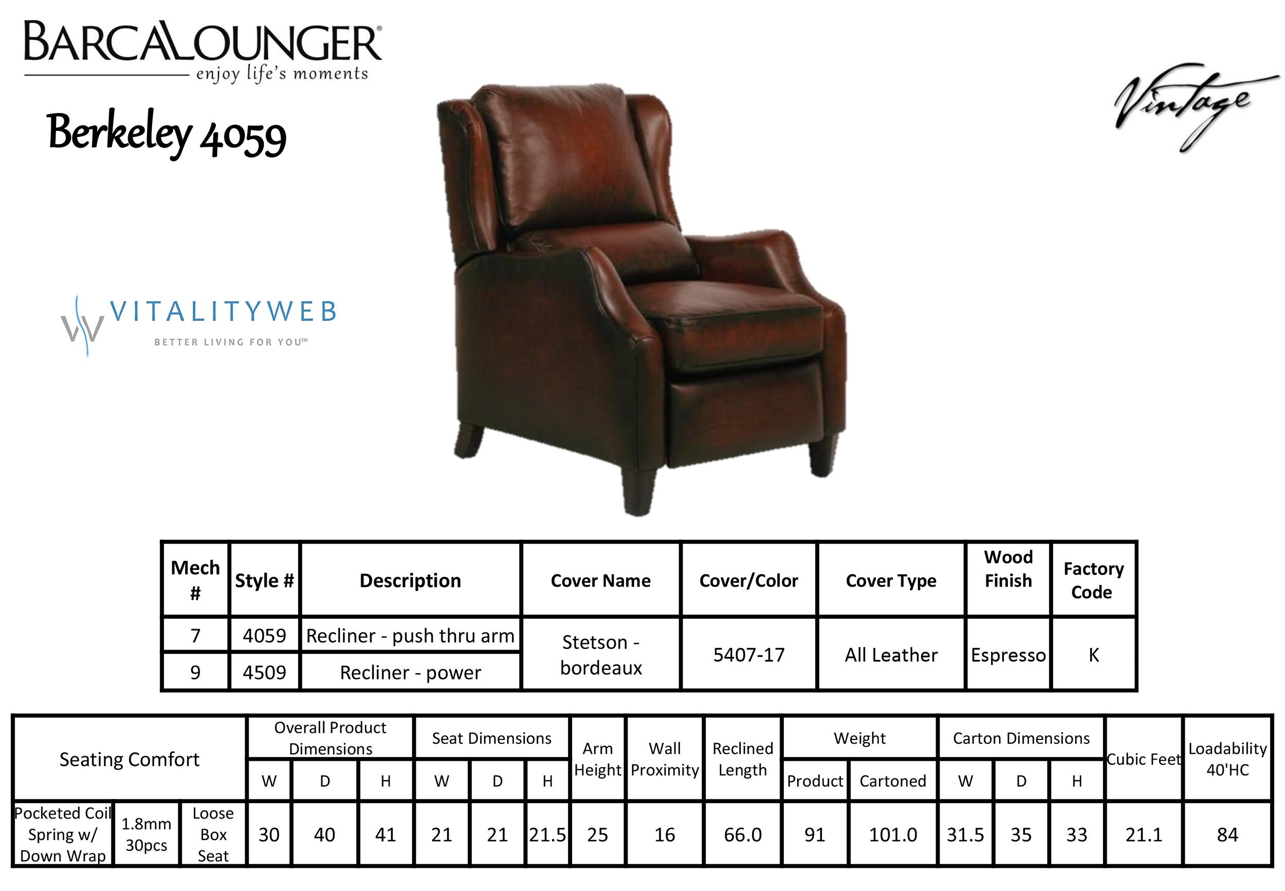 Superb Details About Barcalounger Berkley Power Stetson Bordeaux Leather Recliner Chair 9 4059 Dailytribune Chair Design For Home Dailytribuneorg