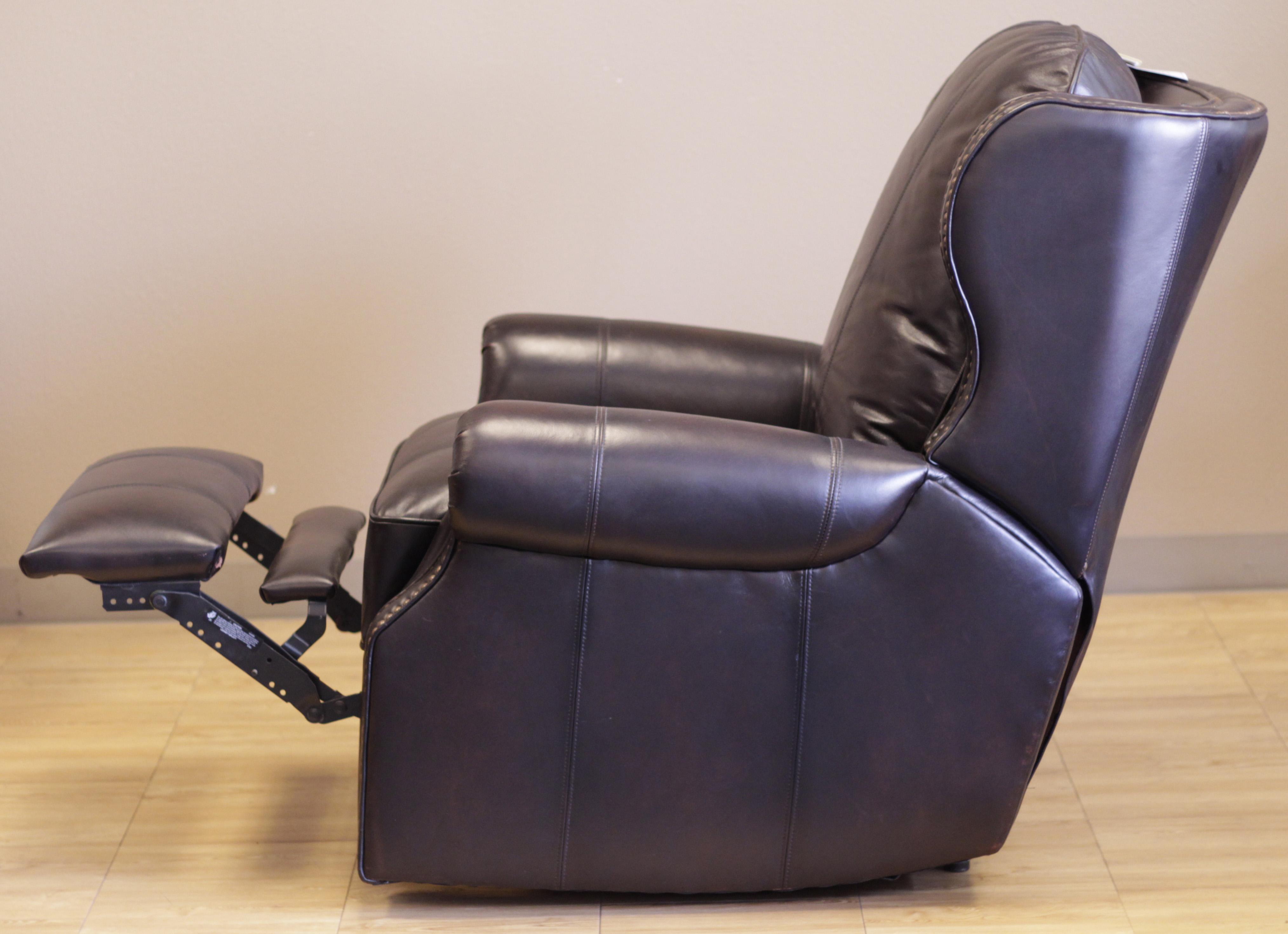 Beau Barcalounger Recliner Bristol II Chair Stetson Bordeaux Top Grain Leather