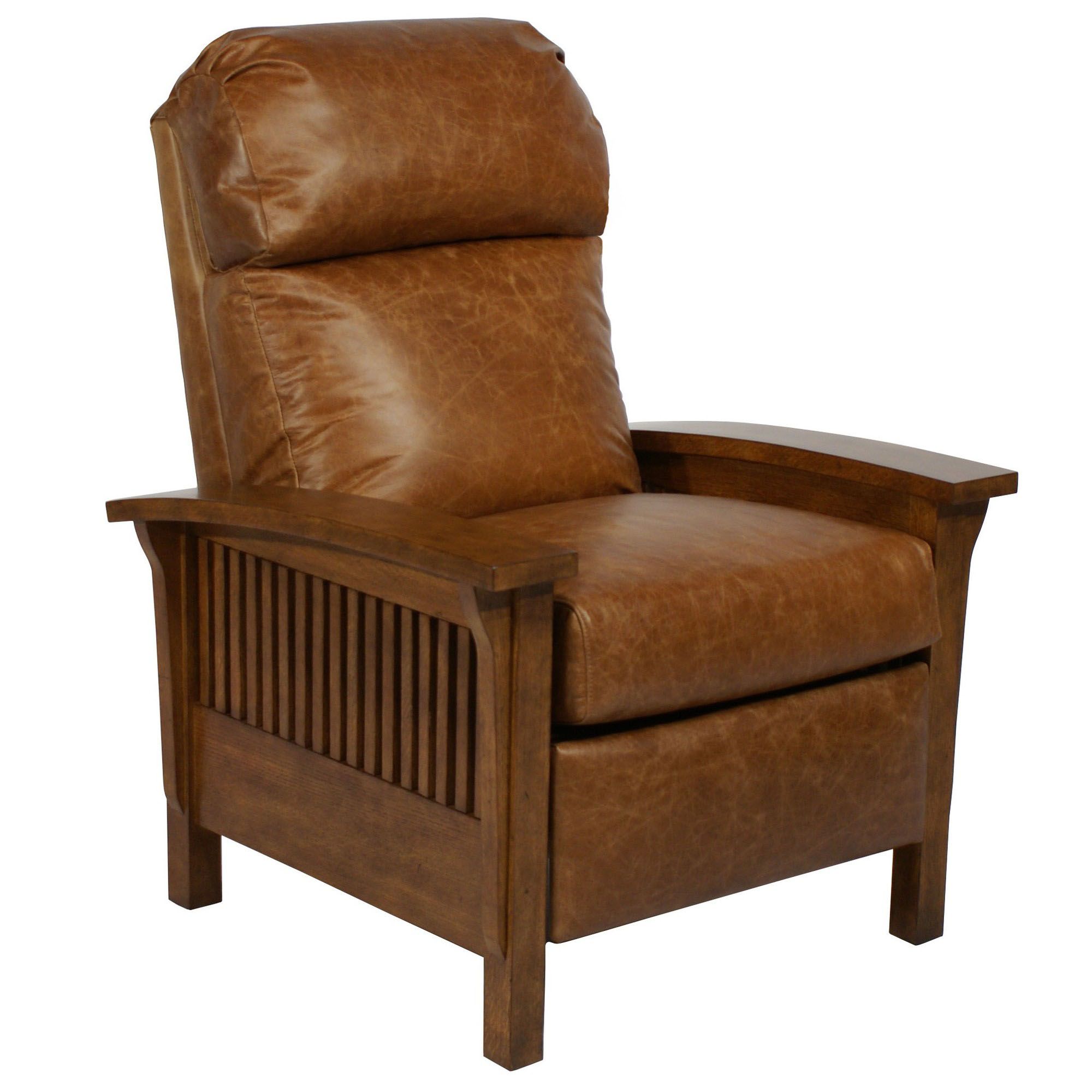 Barcalounger craftsman ii recliner chair leather for Chair recliner