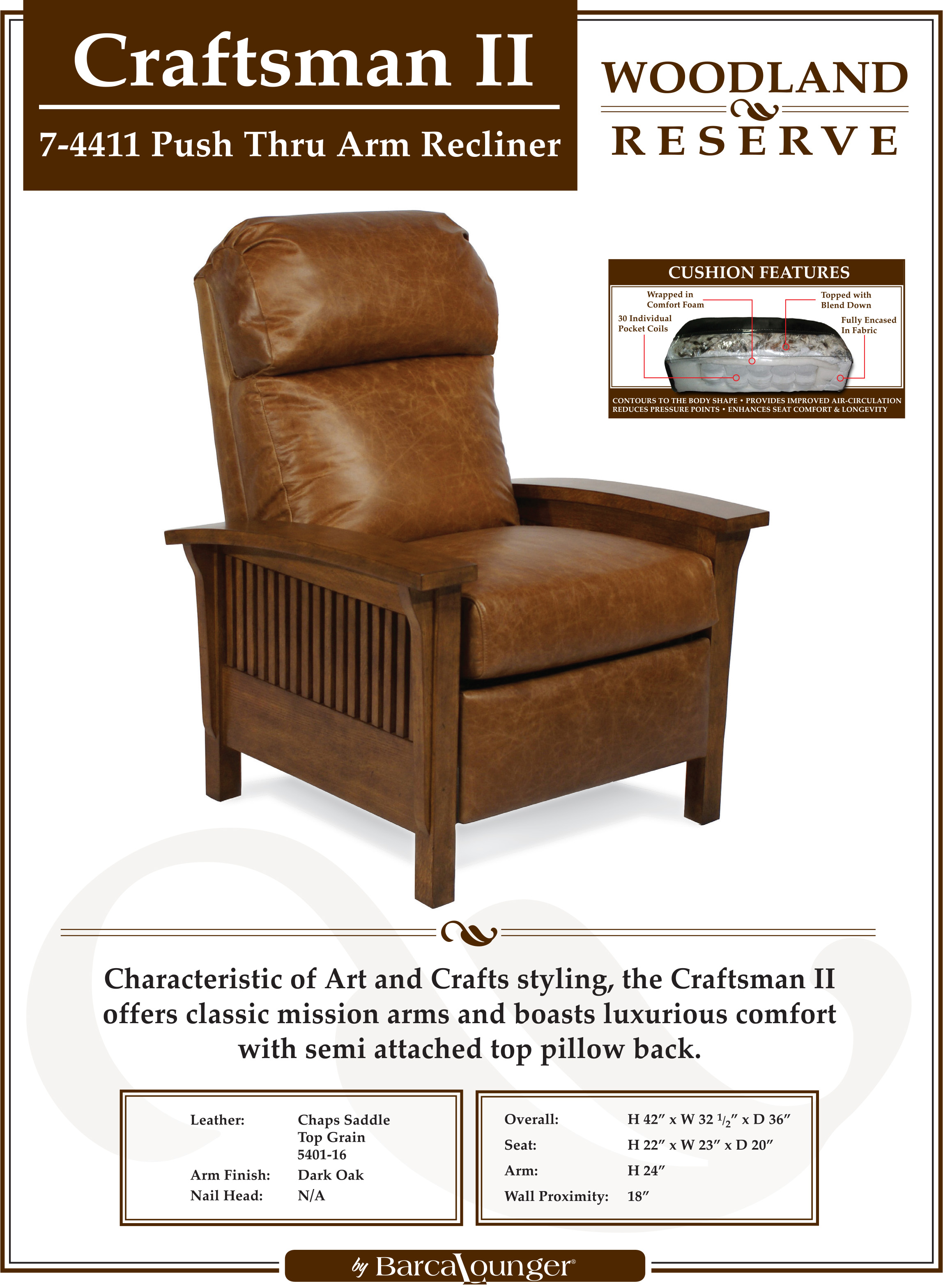 Barcalounger Mission Craftsman Ii Recliner Chair Leather Recliner Chair Furniture