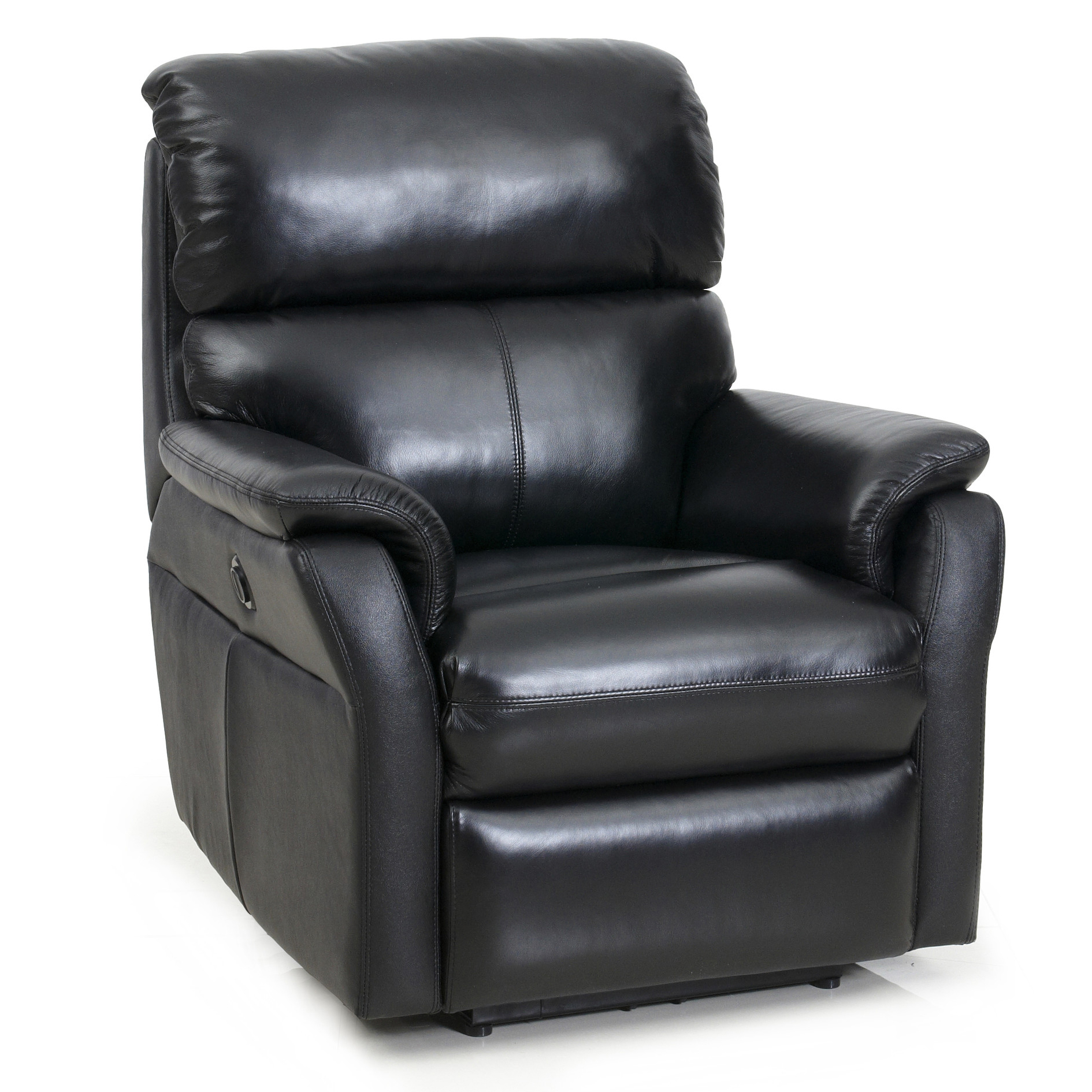 Barcalounger Black Cross II Chair Power Tivoli Leather  sc 1 st  Vitalityweb.com & Barcalounger Cross II Wall Proximity Hugger Lay Flat Recliner Chair ...
