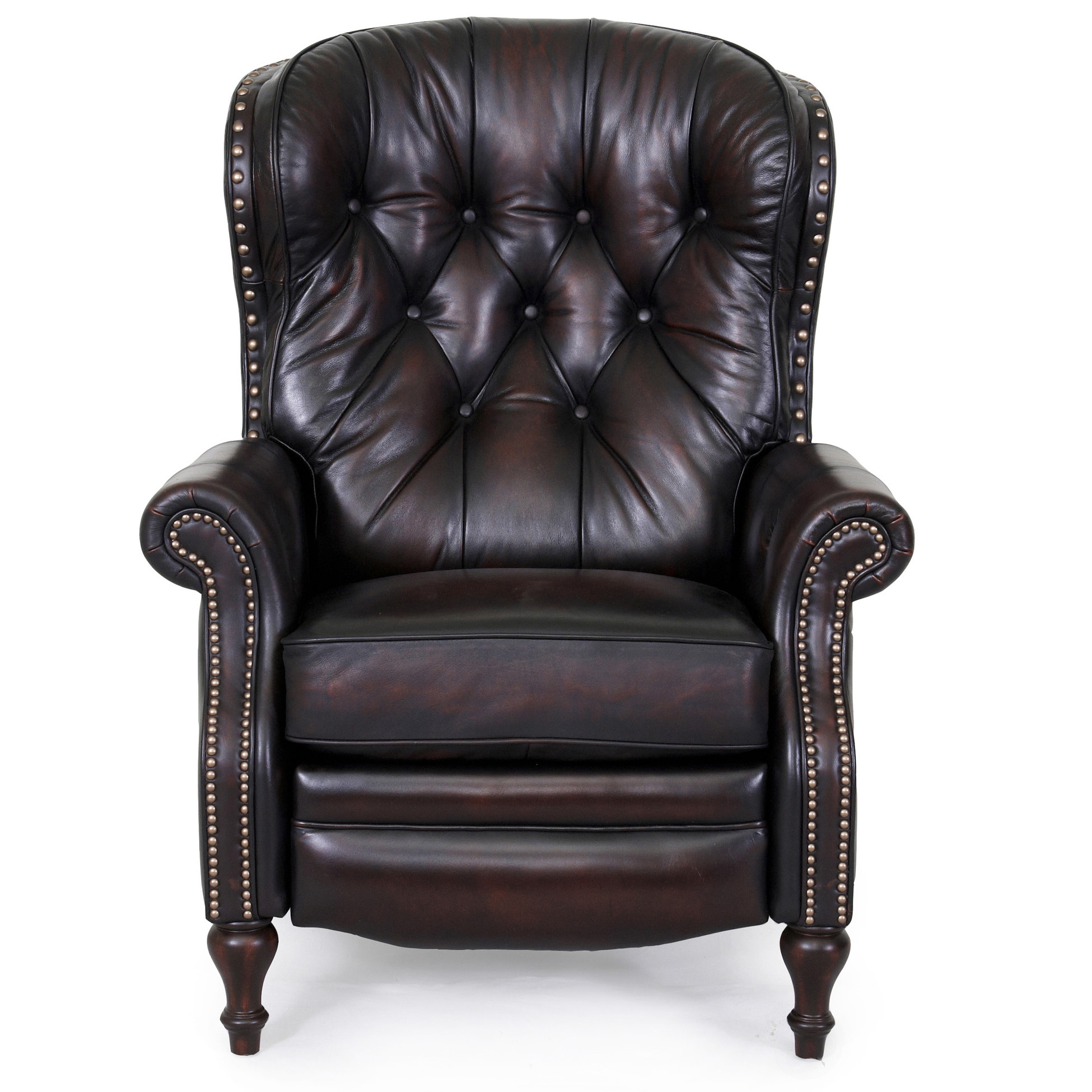 ... Barcalounger Kendall II Recliner Stetson Coffee Leather Chair