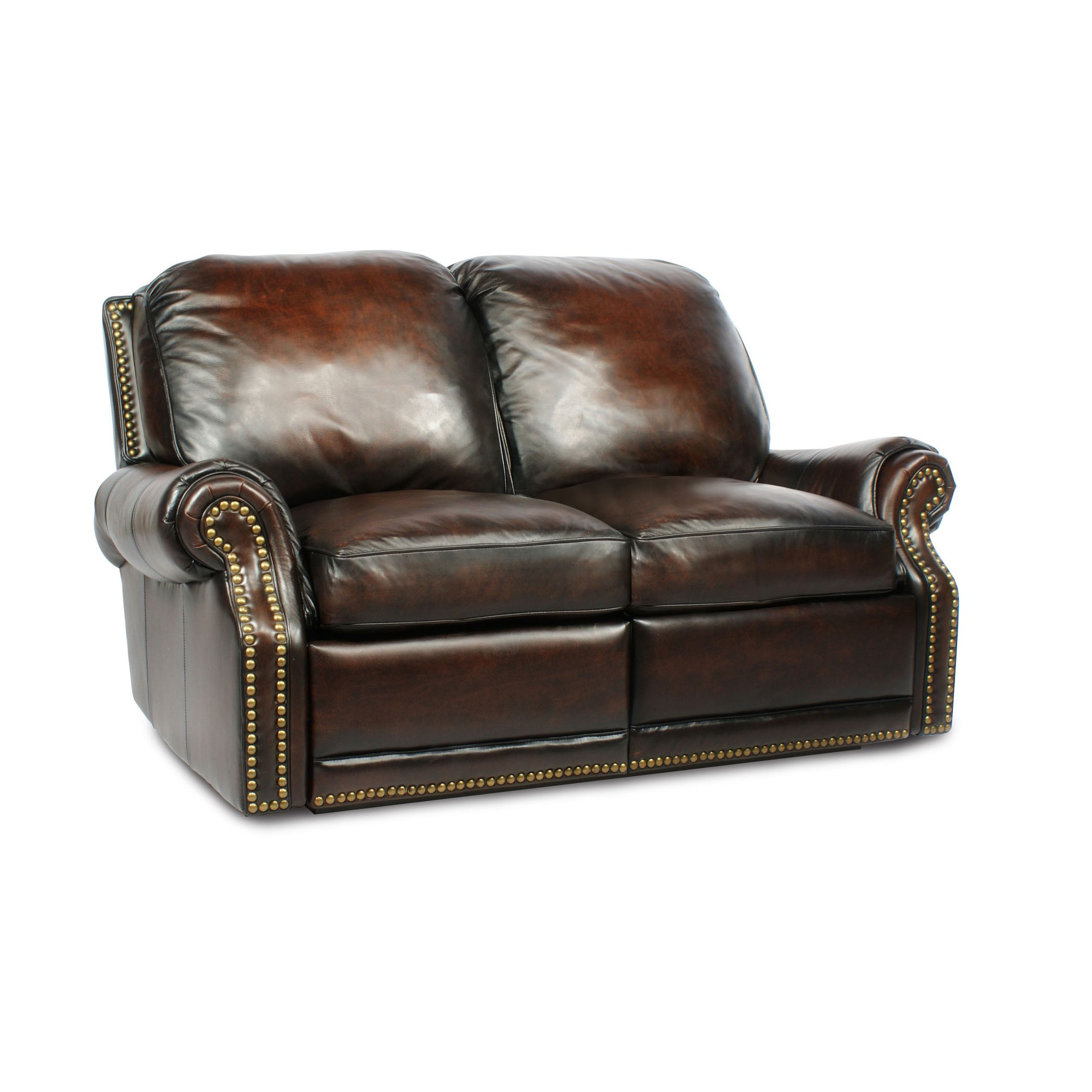Barcalounger premier ii leather 2 seat loveseat sofa for Couch and loveseat
