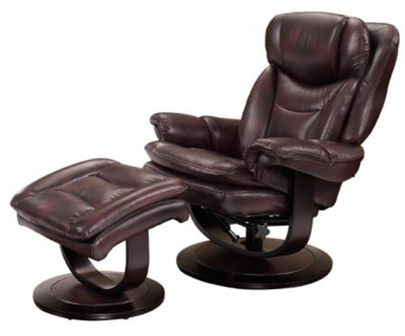 Awe Inspiring Details About Barcalounger Roscoe Plymouth Mahogany Leather Pedestal Recliner Chair Ottoman Andrewgaddart Wooden Chair Designs For Living Room Andrewgaddartcom