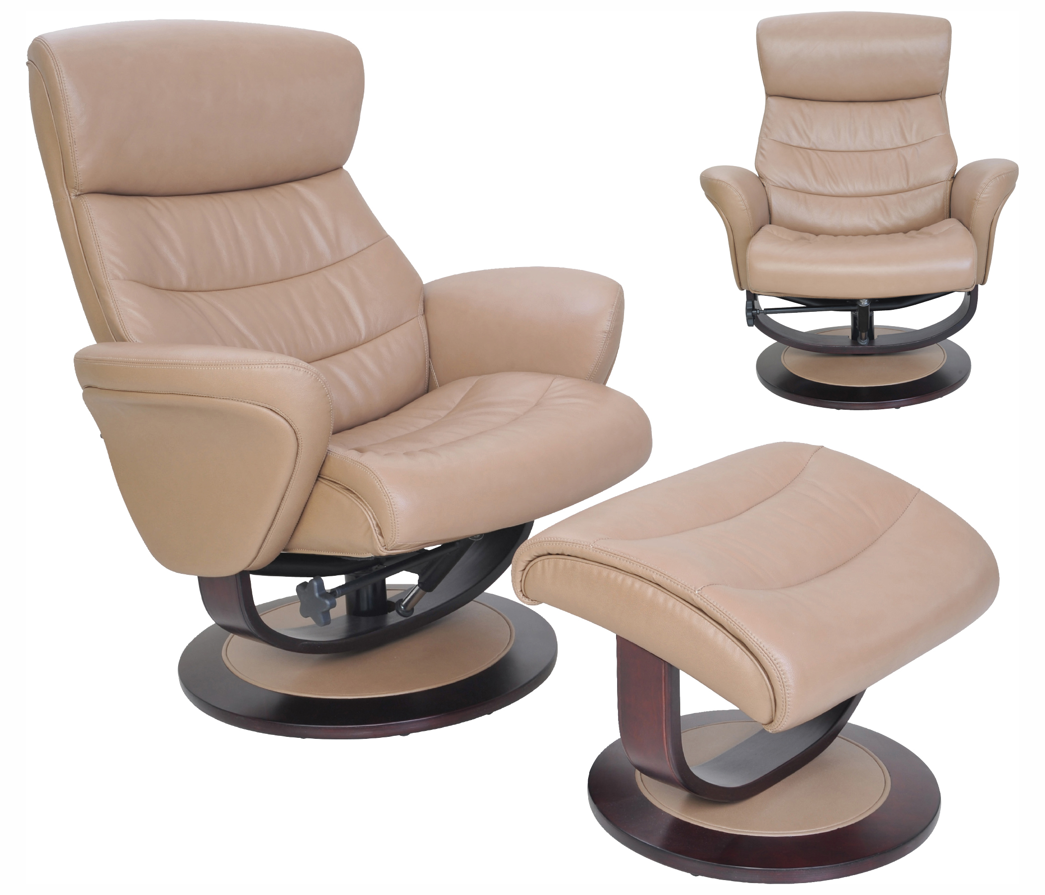 Barcalounger Tetra Leather Recliner Chair And Ottoman ...