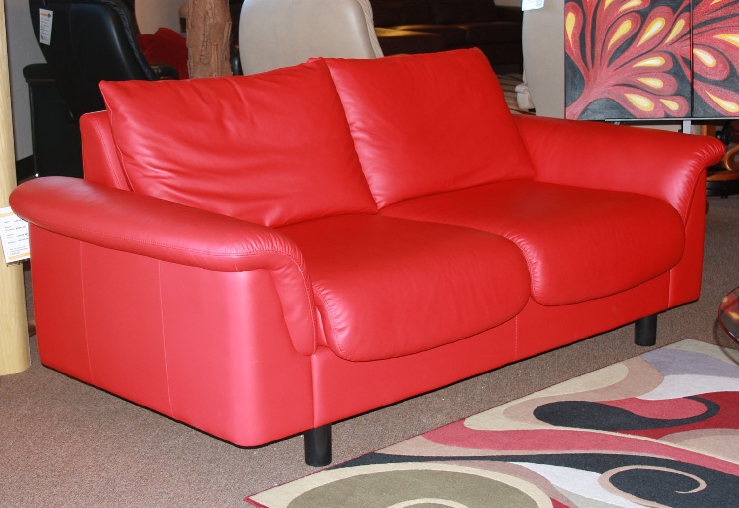Stressless Paloma Chilli Red 09462 Leather Color Sofa from Ekornes