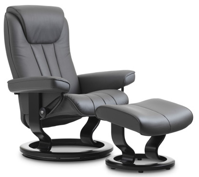 Stressless Bliss Classic Base Recliner Chair And Ottoman
