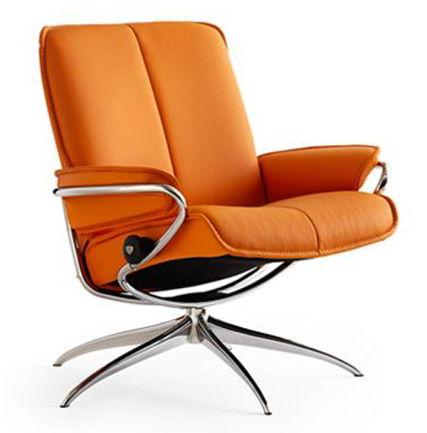 Stressless City Low Back Leather Recliner Chair By Ekornes