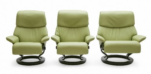 Superb Stressless Paloma Green Leather Color Recliner Chair And Ottoman From  Ekornes