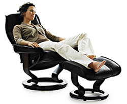 Stressless Governor Recliner Chair and Ottoman Clearance Specials