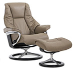 Stressless Live Signature Base Recliner Chair and Ottoman by Ekornes