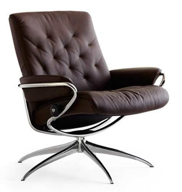 ekornes stressless metro low back leather recliner chair metro chair lounger ekornes. Black Bedroom Furniture Sets. Home Design Ideas