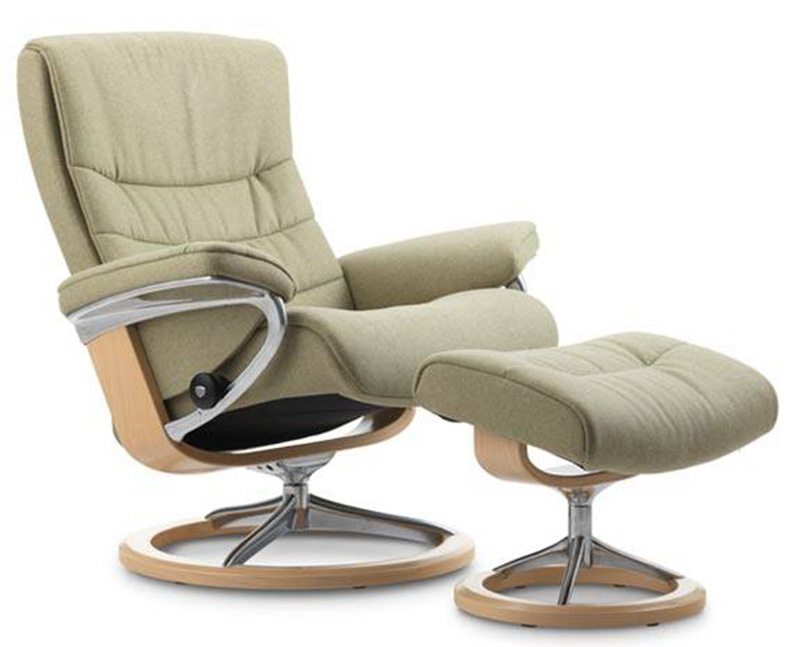 Stressless Nordic Signature Base Recliner Chair And Ottoman By Ekornes