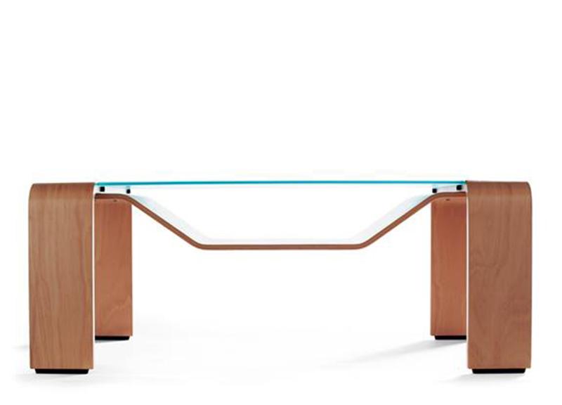 Ekornes Pegasus Wood Glass Table By Stressless