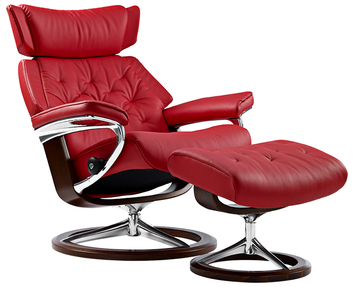 stressless skyline signature base recliner and ottoman by ekornes