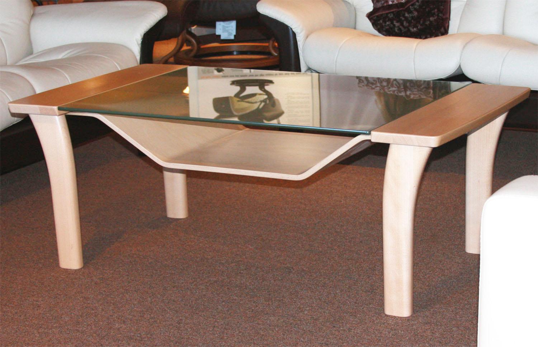 Beau Ekornes Windsor Wood Glass Table By Stressless