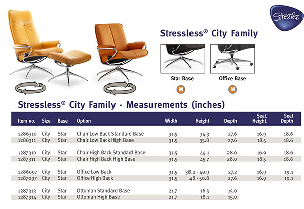 Stressless City Family Recliner Chair from Ekornes