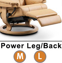 Stressless Mayfair Classic Dual Power Leg and Foot Wood Base