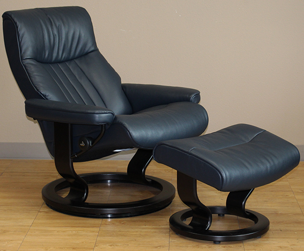 Stressless Crown Cori Black 09119 Leather Recliner Chair