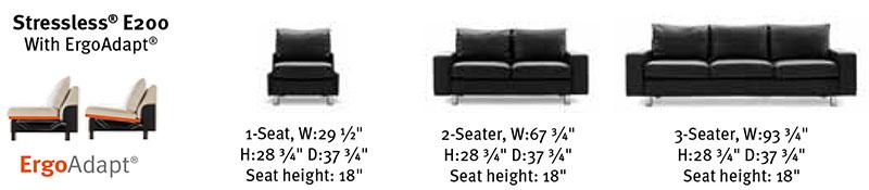 Ekornes Stressless E200 Matching Back Cushion And Frame