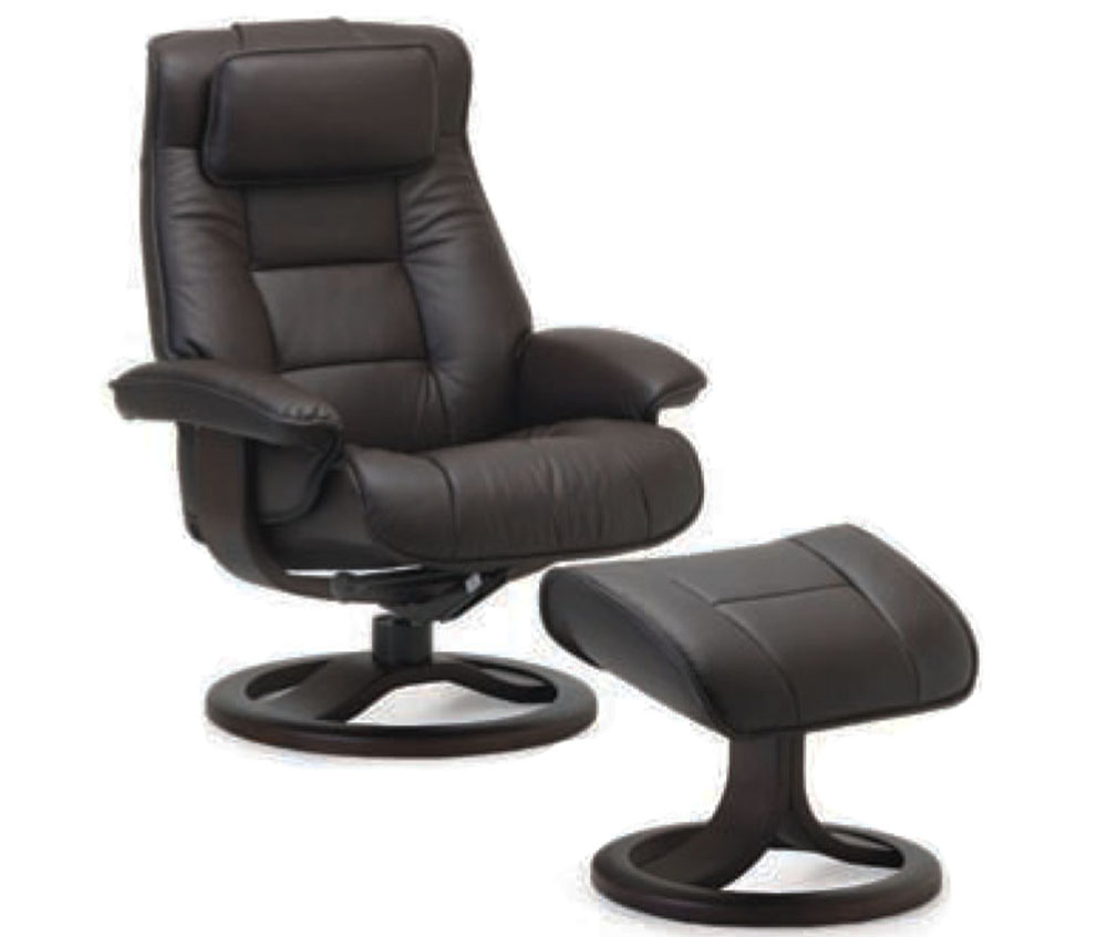 Fjords Mustang Recliner Chair and Ottoman in Havana Leather  sc 1 st  Vitalityweb.com & Fjords Mustang Ergonomic Leather Recliner Chair + Ottoman ... islam-shia.org
