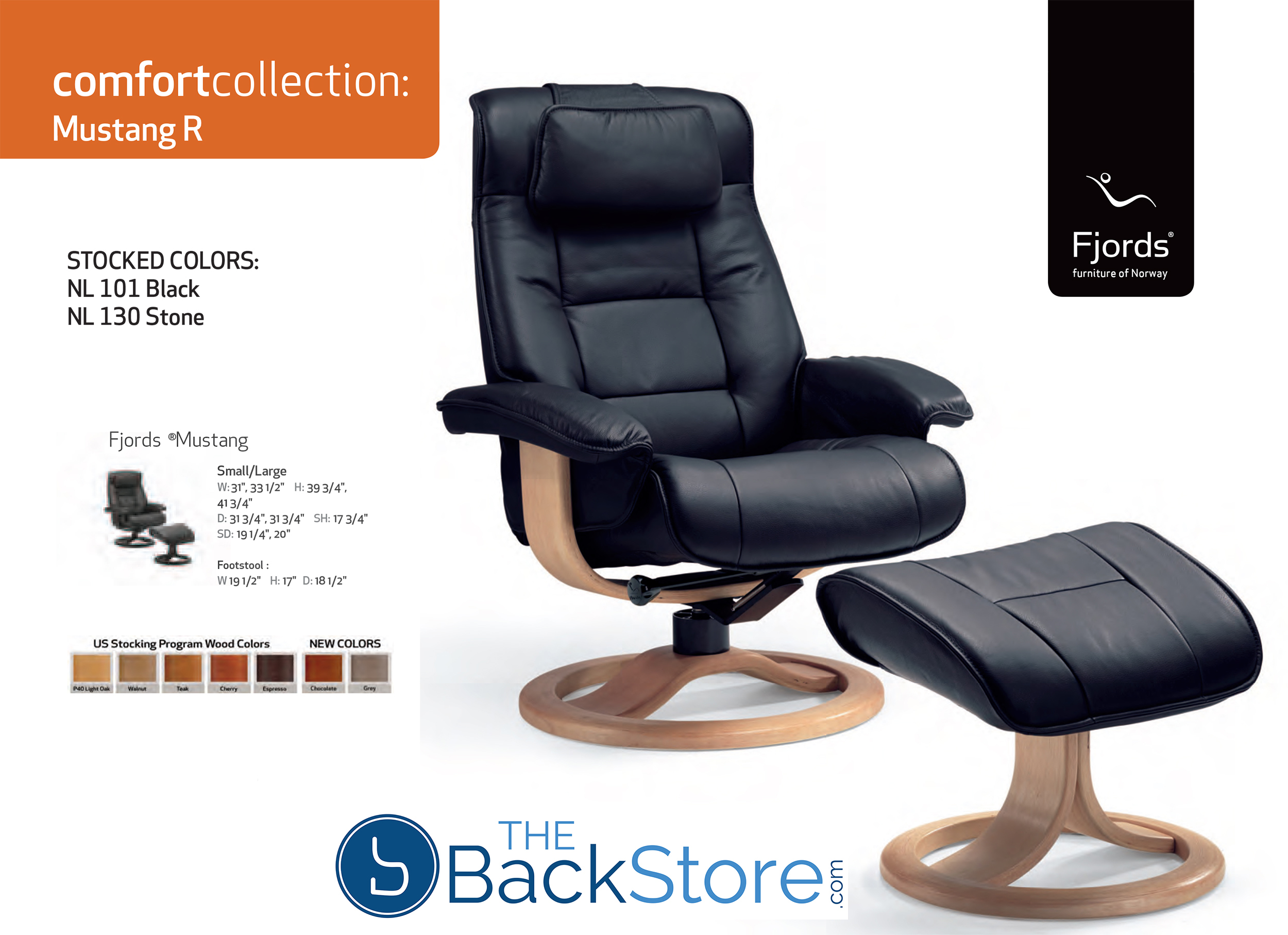 Fjords Mustang Leather Recliner Chair and Ottoman  sc 1 st  Vitalityweb.com & Fjords Mustang Ergonomic Leather Recliner Chair + Ottoman ... islam-shia.org