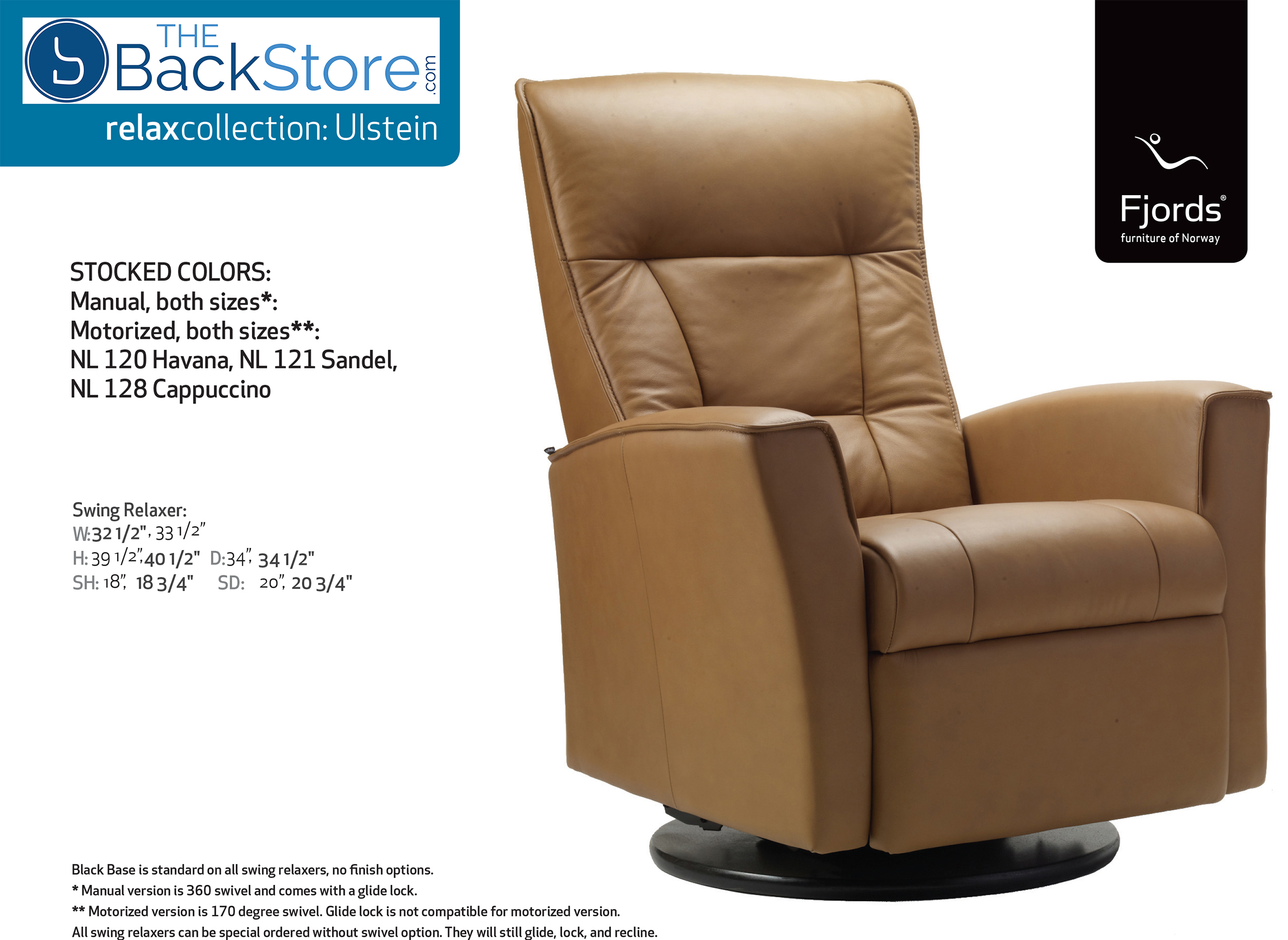 electric power sandel swing information recliner chair nl fjords leather relaxer ulstein itm
