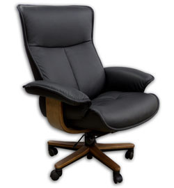 Fjords Senator Soho Executive Leather Ergonomic Office Chair Scandinavian Desk