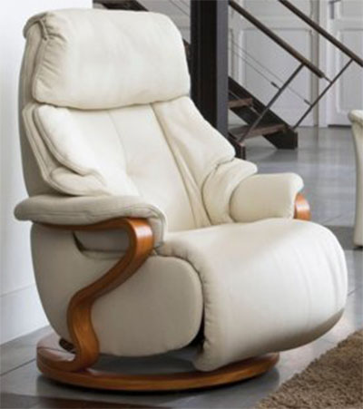 himolla chester white leather zerostress integrated recliner chair