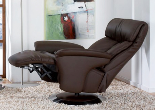 Good Himolla Sinatra Leather ZeroStress Integrated Recliner Chair