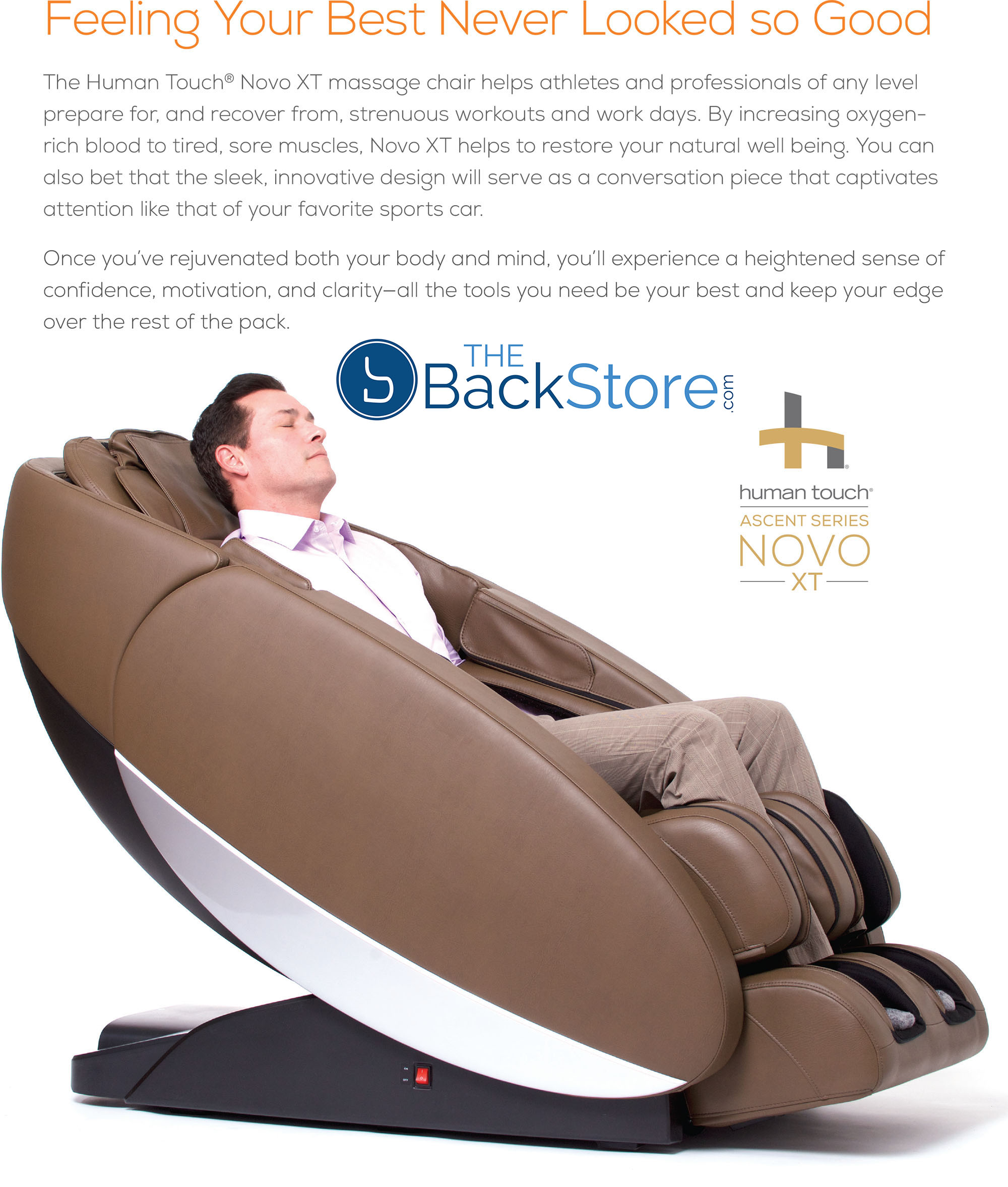 Novo XT Zero Gravity Massage Chair Recliner by Human Touch