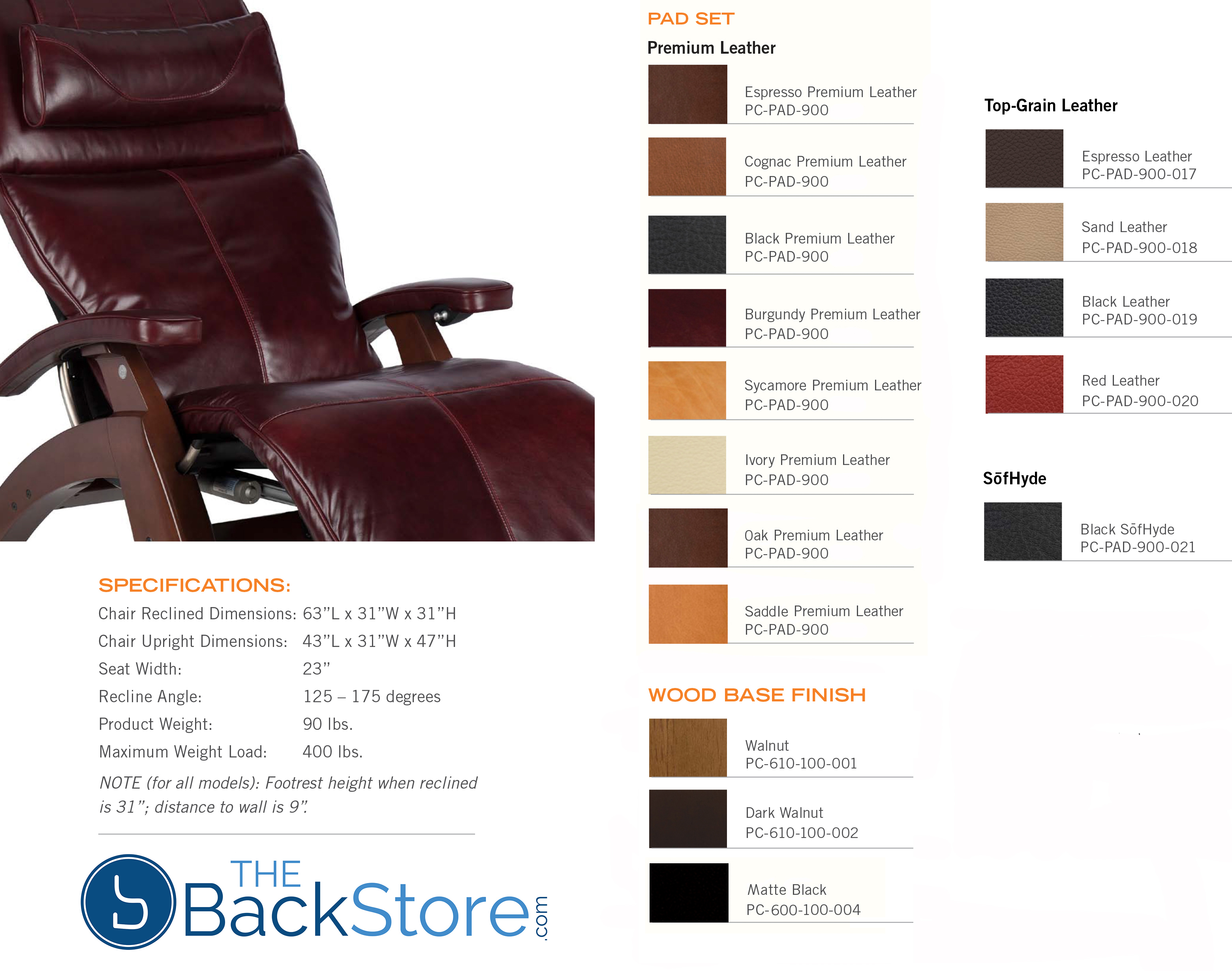 PC 610 Omni Motion Power Perfect Chair Colors By Human Touch