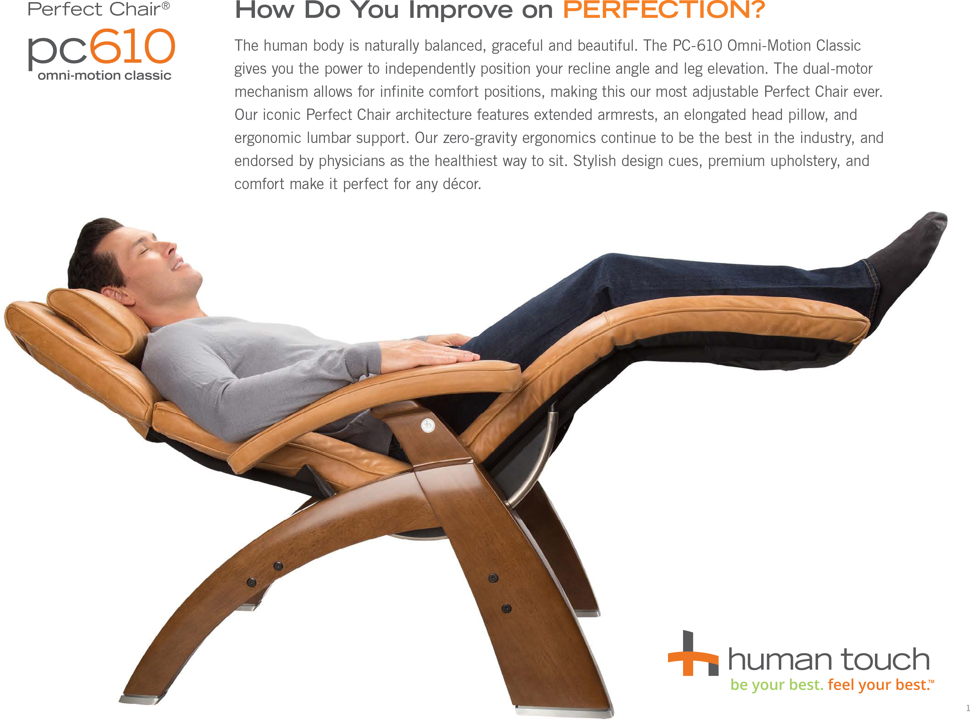 Human Touch PC-610 Omni-Motion Power Perfect Chair Recliner  sc 1 st  Vitalityweb.com & PC-420 Classic Manual PLUS Perfect Zero Gravity Chair - Ergonomic ... islam-shia.org