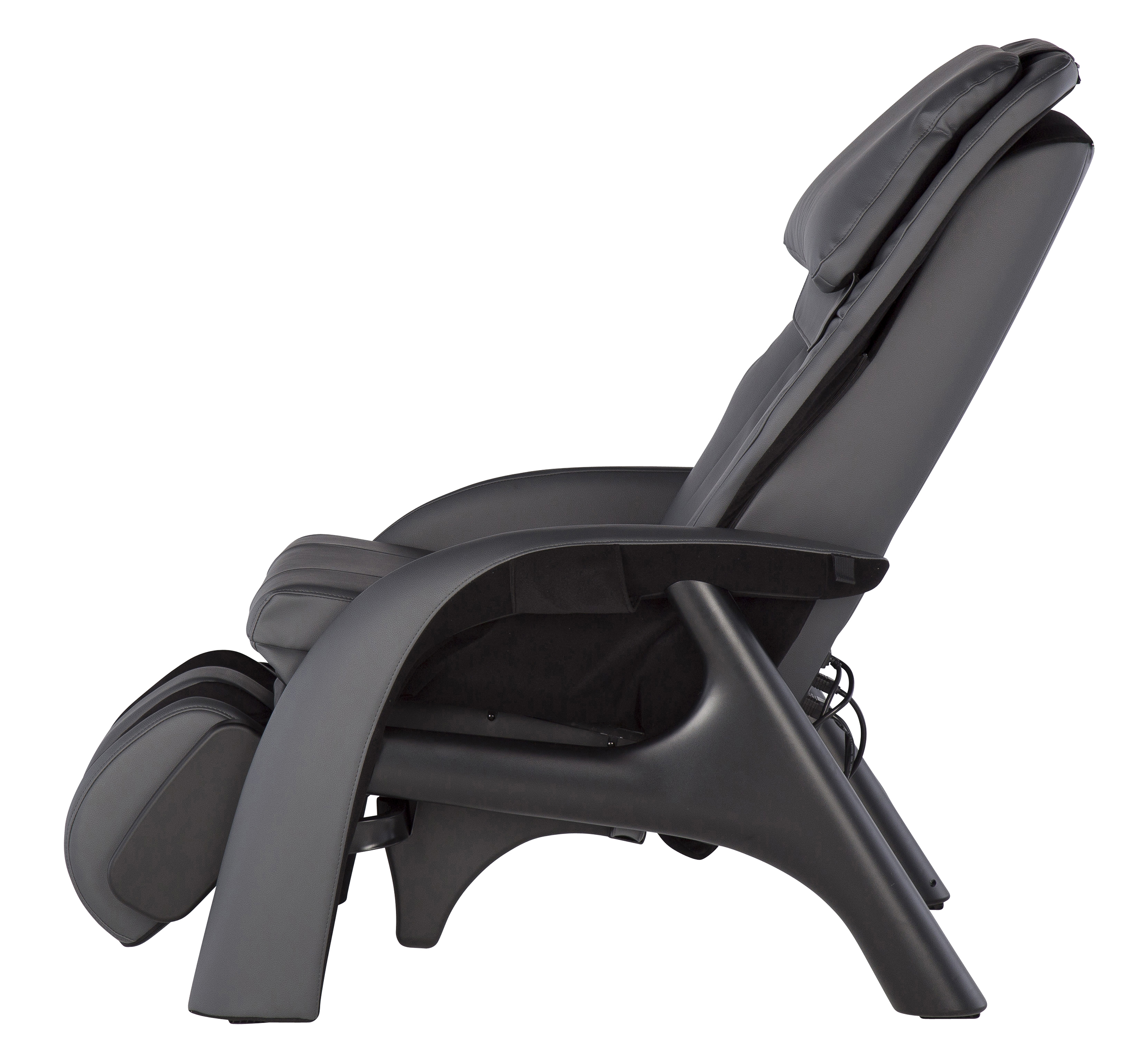 Human Touch Volito Zero Gravity Massage Chair Recliner In Gray Side