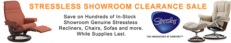 Stressless Recliner Chair, Loveseat and Sofa Showroom Clearance Sale