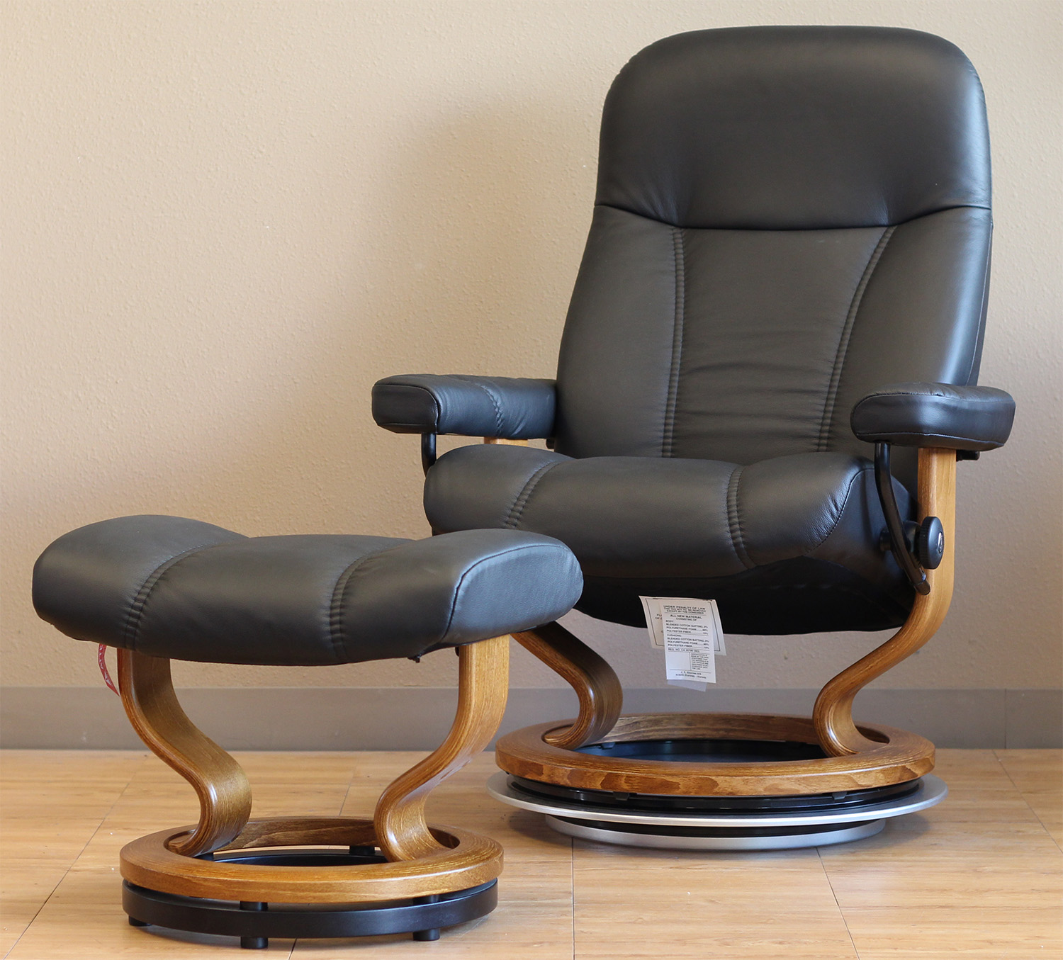 Stressless Batick Black 09319 Leather Recliner Chair