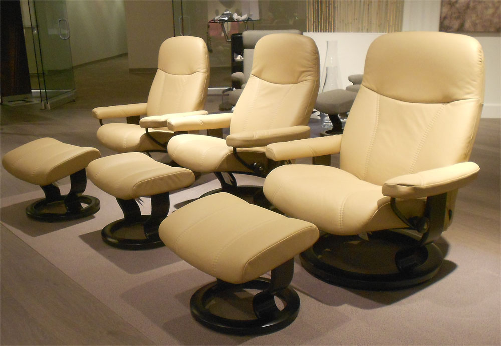 Stressless Batick Latte Leather by Ekornes