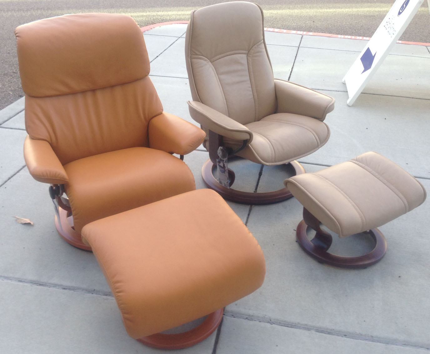 Stressless Dream in Tan Cori Leather with a Consul in Paloma Sand Leather by Ekornes & Stressless Spirit Large Dream Cori Tan Leather Recliner Chair and ... islam-shia.org