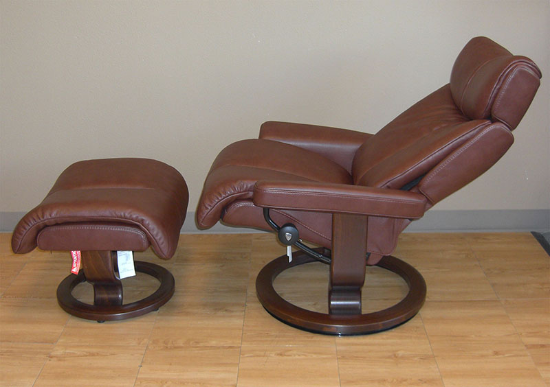 Stressless Magic Royalin Brown Leather Chair