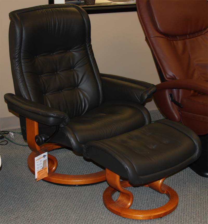 Stressless Royal Paloma Black Leather Recliner Chair