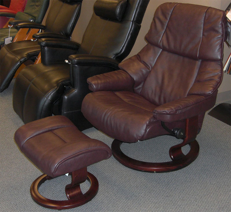 Stressless Vegas Royalin Amarone Leather Recliner Chair