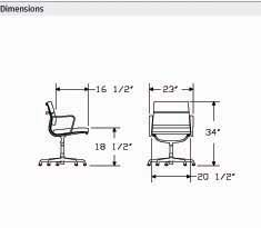 Eames Aluminum Group Side Office Task Desk Chairs By